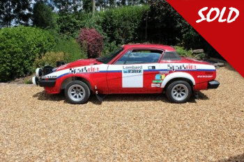 Ex works Triumph TR7 V8 Rally Car